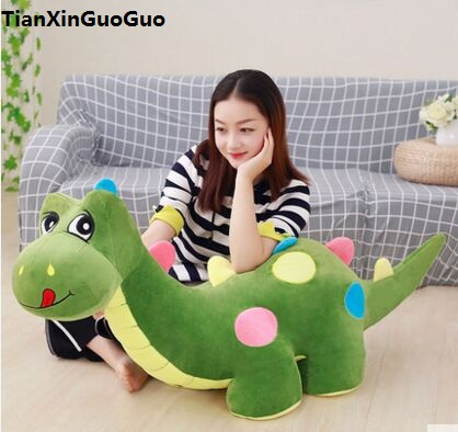 huge 125cm cartoon dinosaur plush toy Q edition green dinosaur soft doll hugging pillow birthday gift s1040 джинсы weekend max mara weekend max mara we017ewadtv8