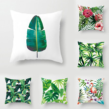 New 8 style 40*40cm Plant pattern christmas Cushion Cover Decorative Pillows For Sofa Seat soft Pillow Case Home Decor