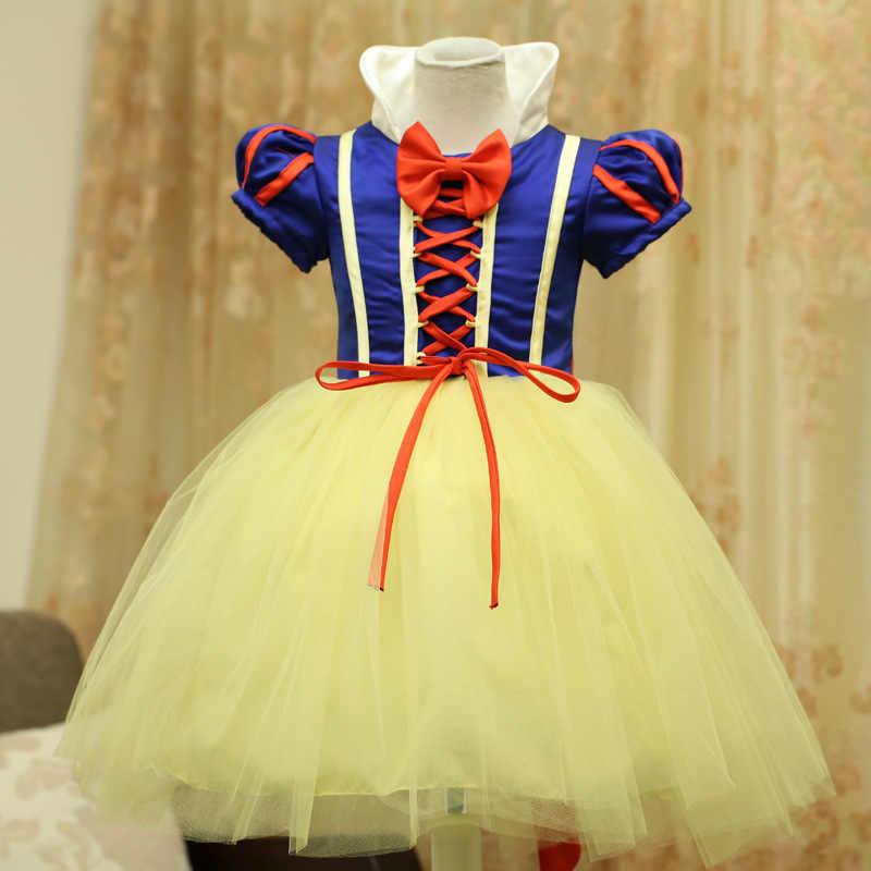 2019 Белоснежка платье с буфом на рукавах для принцессы платье для девочек костюм на Хэллоуин Детские карнавальные костюмы для девочек Fantasia