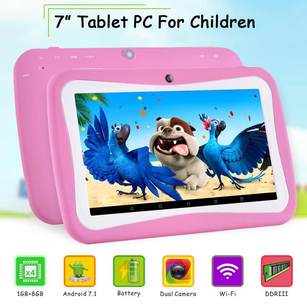 7 インチオリジナル錠アンドロイド 7.0 のラップトップ WiFi Blutooth の Gps タブレット PC 1 ギガバイト + 8 ギガバイトのデュアルカメラ 1024*600