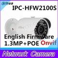 Dahua IPC-HFW2100S 1.3Mp with POE Network Water-proof IR Mini Bullet IP Camera POE CCTV camera English firmware