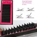 Hot 1 tray Eyelashes All size Eyelash extension 0.05/0.07/0.1/0.15/0.2/0.25 8-16mm bright black curl makeup Fake False Eye Lash
