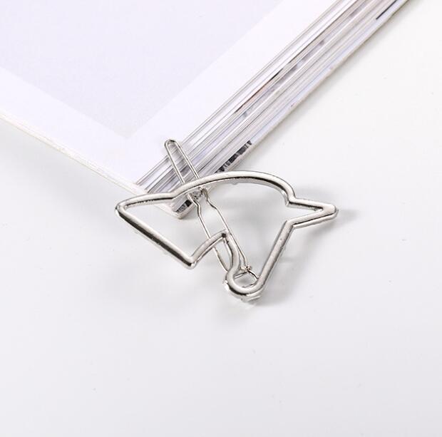 Unicorn Design Metal Women's Hair Clip