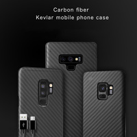 Carbon fiber Kevlar Case Cover FOR SAMSUNG GALAXY S10 PLUS ,S10 ,S9 PLUS ,NOTE 9 ,NOTE 8 ,S8 PLUS Ultra thin Business handmade