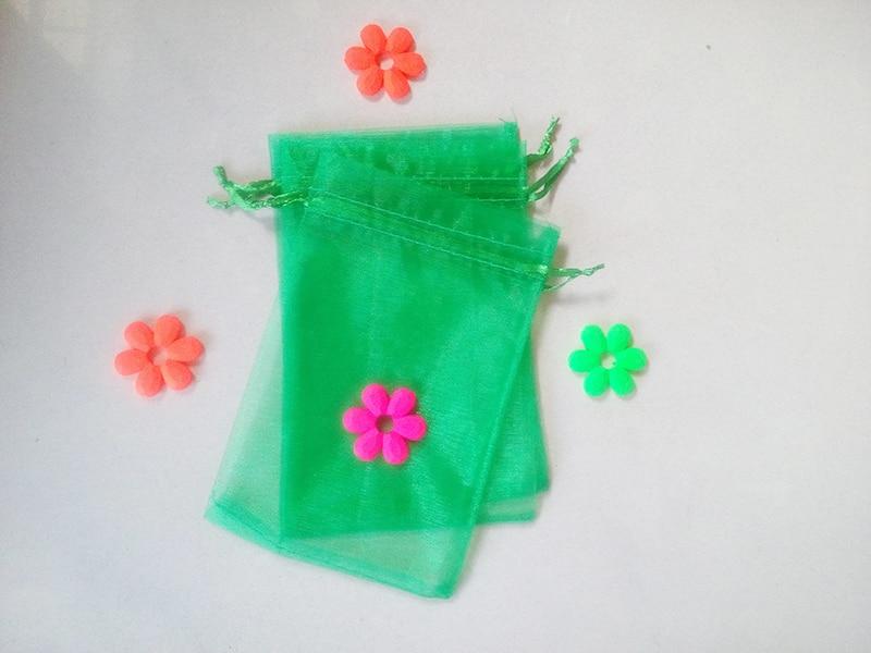 9fa70fe4c03 5000 pz Erba verde organza sacchetti regalo 30x40 cm eventi wed Drawstring  bag Monili del partito per le donne Sacchetto di visualizzazione accessori  fai da ...