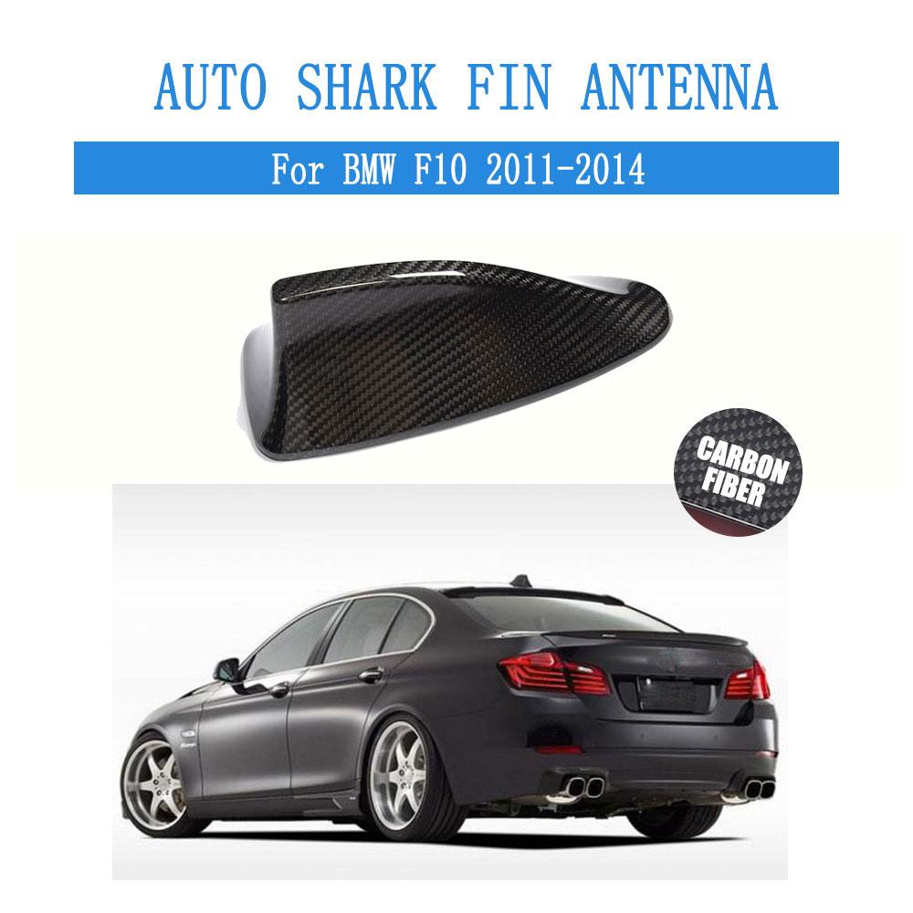 En Fiber De carbone Auto Aileron de Requin Antenne Antenne de Toit Décoration Fit Pour BMW F10 2011-2014 Car Styling 1 pcs