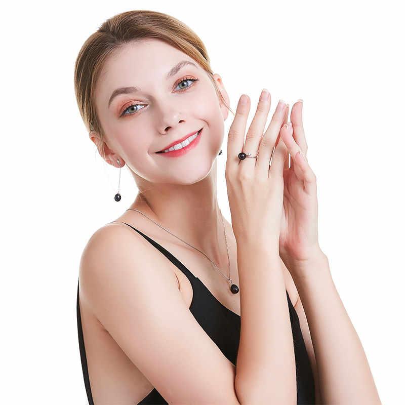 HENGSHENG brincos para as mulheres 100% genuíno real grau AAAA Qualidade Superior gota de água doce da pérola brincos, moda jóias