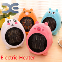 Cartoon Mini Warm Air Electric Heater 4 Colors Adjustable Thermostat Fan Heater Freestanding Portable
