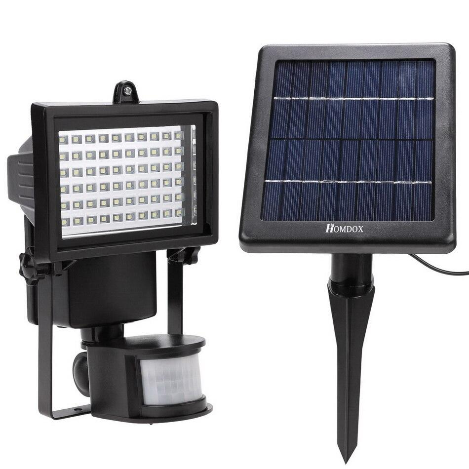 Homdox étanche 60 LED Solaire Lampe de Sécurité Lumi¨re avec motion