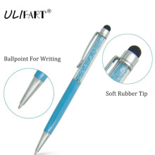 2 in 1 Crystal Capacitive Tablets Touch Stylus Pen Universal Portable  Microfiber Ball Pen For IPhone Ipad Built-in Ballpoint etmakit universal 2 in 1 tablet capacitive stylus pen with ball point pen microfiber touch screen pen for iphone for samsung