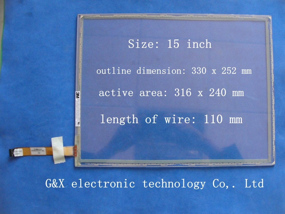 17-8031-217 32525-FAB Original 15 polegada 5 Painel Touch Screen Resistivo