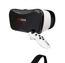 2016 NEW hot sale Cardboard VR box Shinecon Virtual Reality Helmet 3D Glasses for 4.0″-6.3″ Smartphone + Bluetooth Gamepad