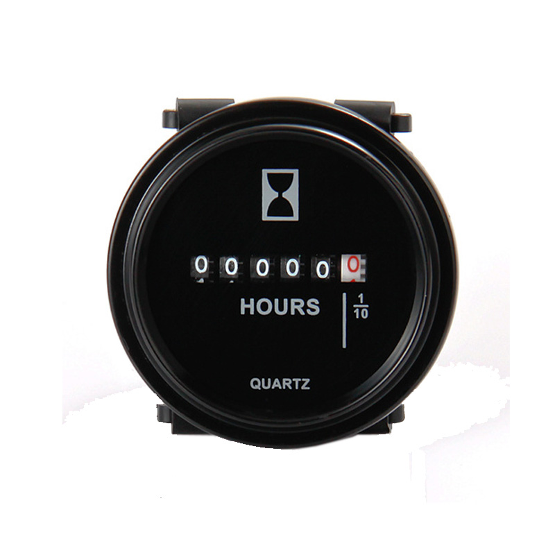 Mechanical Quartz round HOUR METER for marine chainsaw chipper lawn mower RL HM009 DC 6 80V