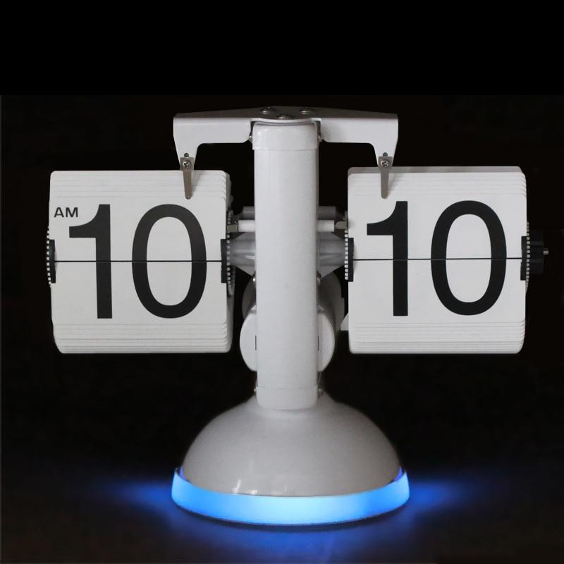 Galda pulkstenis Radošās svari Flip pulksteņa skaņas vadība LED - Mājas dekors - Foto 3
