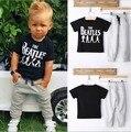Crianças roupas de verão definido de manga curta Boy T-shirt + Calças terno conjunto de roupas Recém-nascidos ternos Do Esporte Crianças de algodão roupas de bebê menino