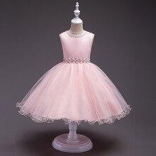 Noble princess  Floral Children Baby Dresses Girl Wedding Party;Princess  Birthday Girls Dress Cotton  Teenage цены онлайн