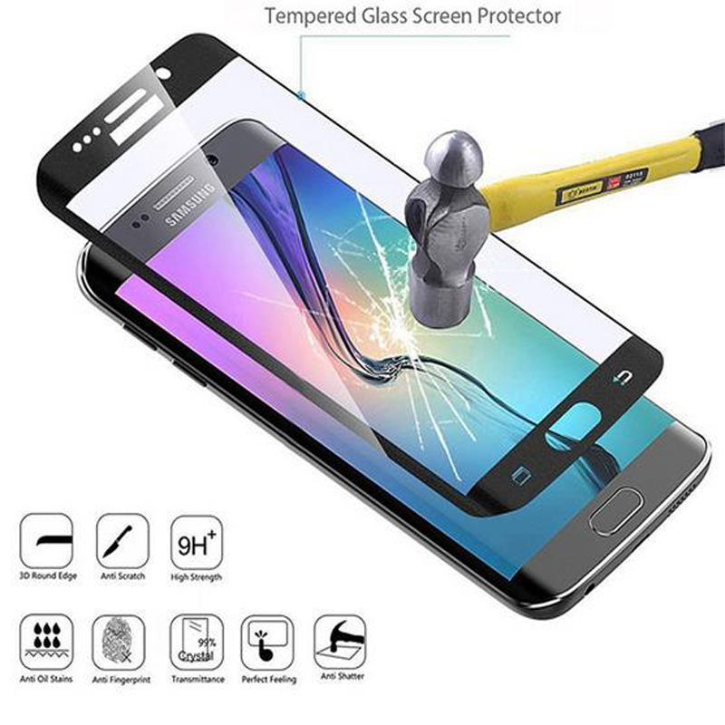 s7 edge For Samsung Galaxy S6 Edge Case s7 S8 Tempered Glass Safety Front Guard Screen Protector 3D Full Cover Film Verre Trempe image