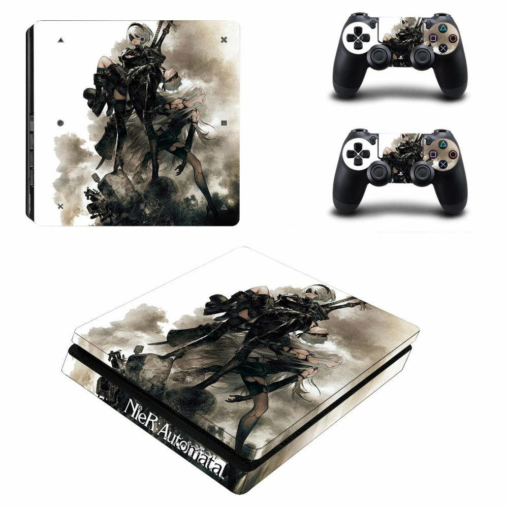 Game NieR Automata PS4 Slim Skin Sticker Decal for Sony PlayStation 4 Console and Controller Skin PS4 Slim Skins Sticker Vinyl
