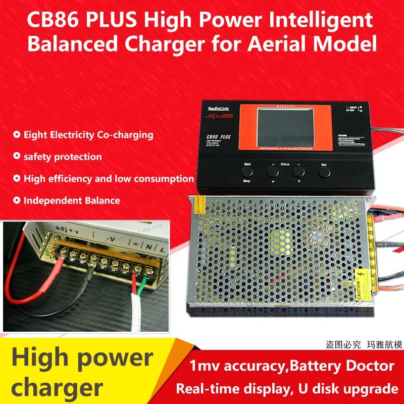 Radiolink Balans Lader CB86 Plus voor 8 stuks 2 6 S Lipo Batterij in een keer Professionele Voor RC helicopter 2 6 S Lipo Batterij