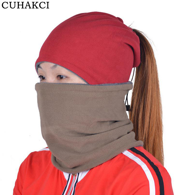 CUHAKCI Women Caps Winter Mask Multi Function Warm Protect Head Neck Ear Riding Beanies Cycling Headwear Bike Skullies M027