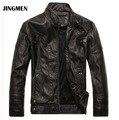 НОВЫЕ высочайшее качество Кожаная Куртка Мужчины jaqueta де couro masculina мужские кожаные куртки мужские Пальто Мотоциклетная Куртка dropshipping