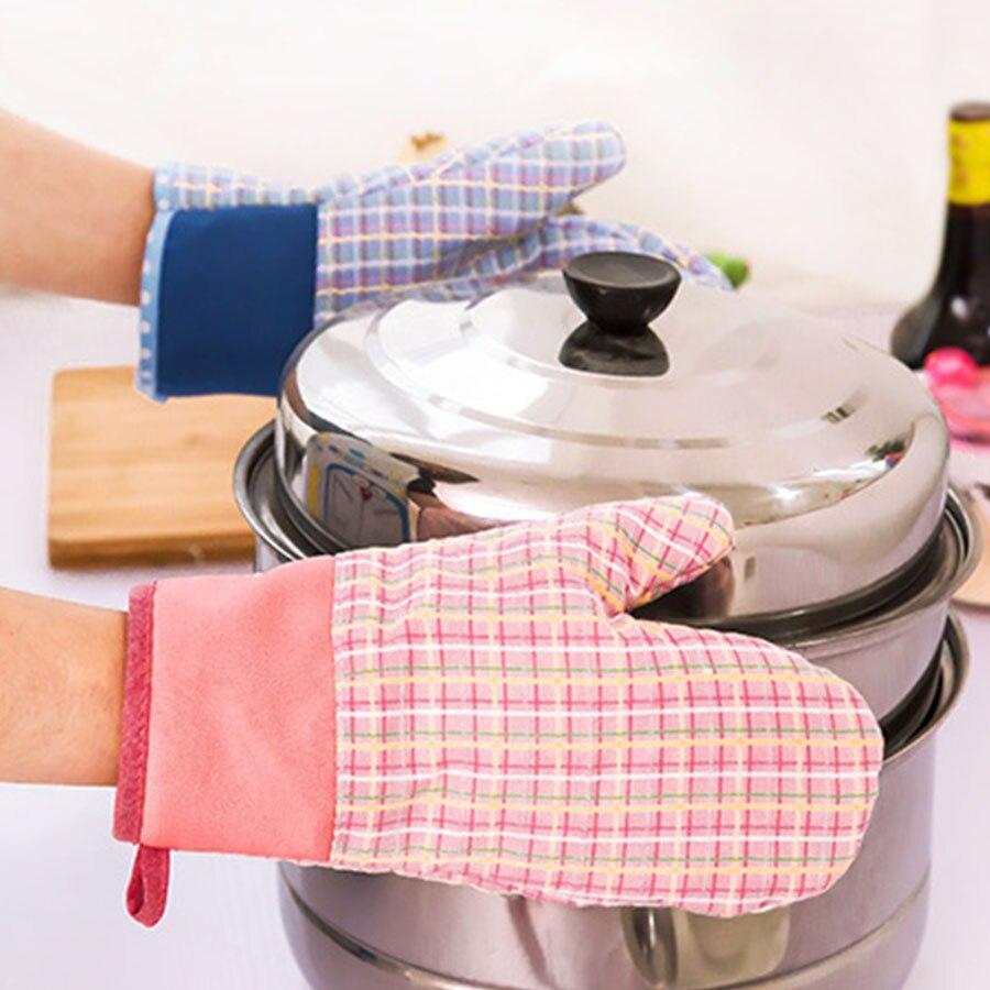 Милые хлопковые печь Прихватки для мангала Термостойкие микроволновая печь Термальность  ...