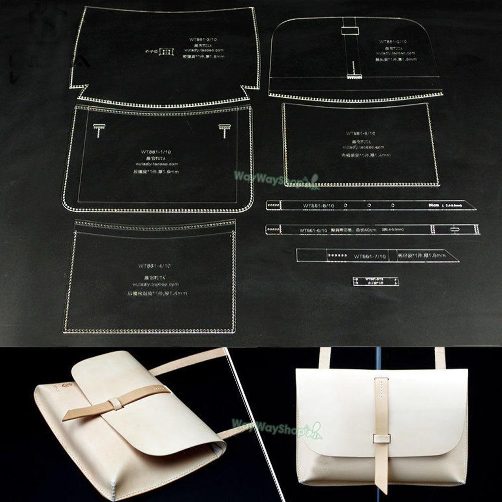 Shoulder Bag Acrylic Leather 861 Handbag Template Leathercraft ...