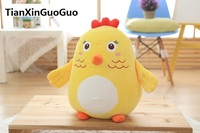new arrival cartoon yellow chicken plush toy soft chick doll throw pillow birthday gift w2917