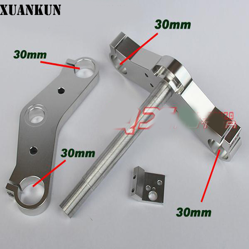 XUANKUN Monkey Small Monkey Motorcycle Modified Cnc Direction Device 30mm Upper And Lower Board