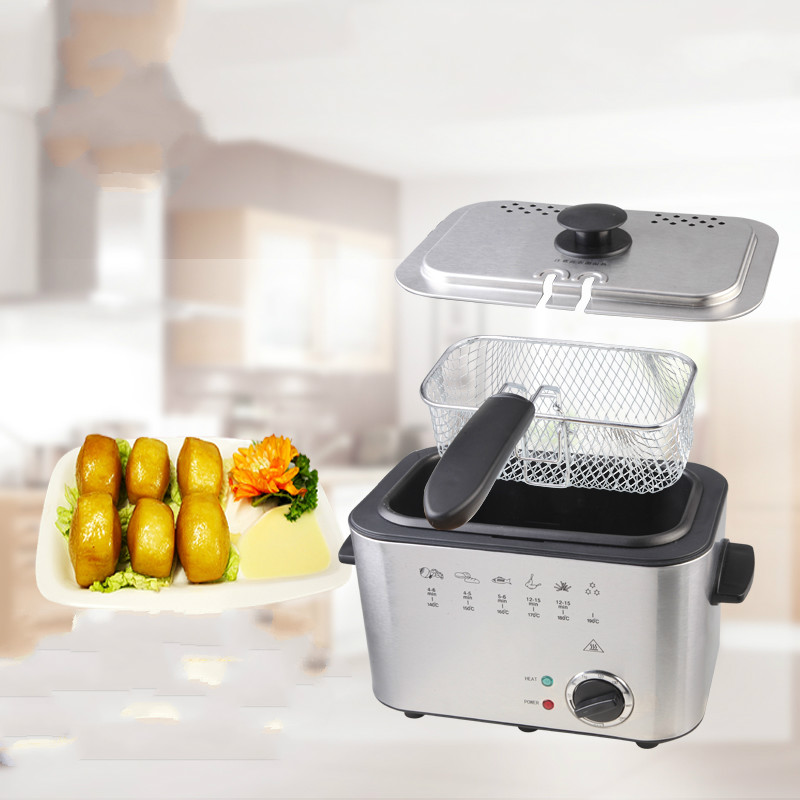 Electric Deep Fryers The fryer is a square fryer. Thermostat fries machine fixed. konka microcomputer intelligent control air fryer 2 5l smokeless electric air fryer french fries machine non stick fryer 220v eu