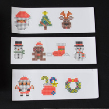 ZOOYA DIY Diamond Embroidery Cartoon Merry Christmas Painting For Kids Round Sticker Happy New Year Gift Mosaic