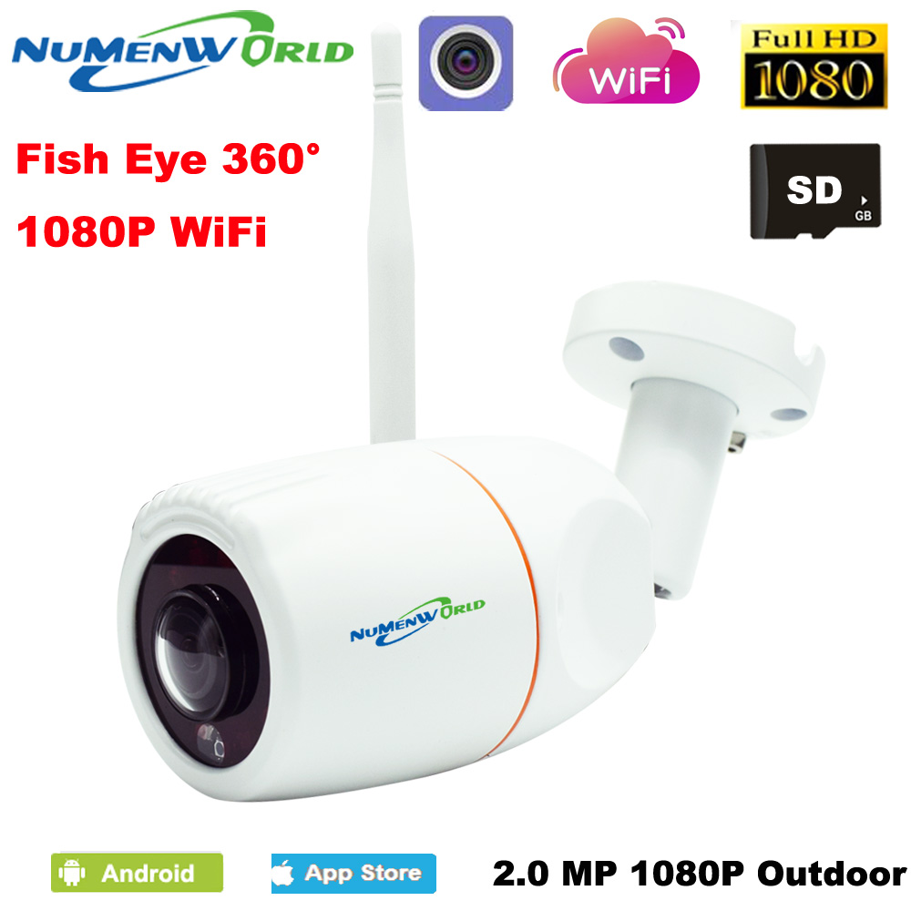 Outdoor VR 360 Degree Panoramic Fish Eye Lens HD 1080P IP Camera Night Vision Waterproof APP