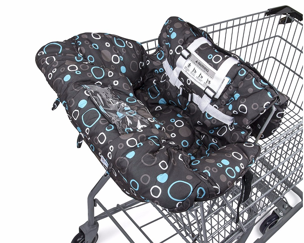 Premium Shopping Cart Cover & High Chair Cover, Easy Install, Harness System, Soft Comfort Cushioning, Universal Size, Protects