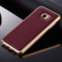 Luxury Original IMatch Aluminum Metal Frame Genuine Leather Cover Case For Samsung Galaxy Note 5 N9200