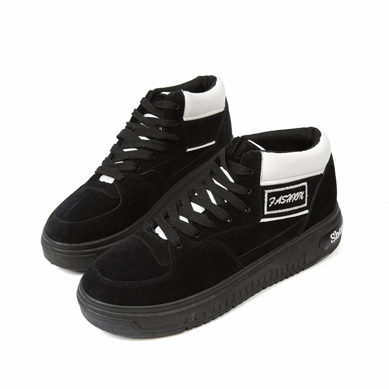 Casual Women Shoes Lace Up Breathable Platform High Top Casual Shoes KUYUPP 2016 Spring Autumn Fashion Lace Up Skate Shoes YD158 (13)