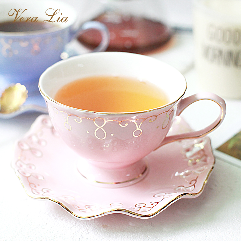 Ceramic Home European Style Coffee Cup Saucer Set Simple