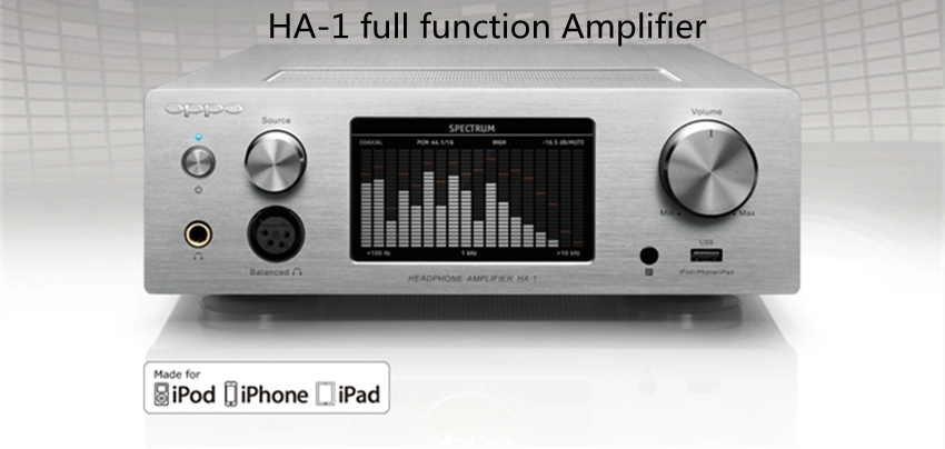 OPPO HA-1 China Version(220V) Pure Analog Volume Knob full-functioPRC and XLR Analog Inputs and Outputs Support iPhone iPad iPod цена и фото