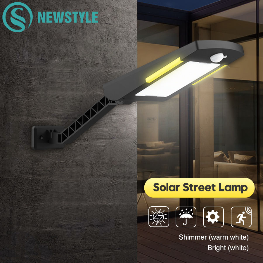 54 LED Wireless Solar Lamp With 3 Modes Outdoor Waterproof Solar Powered Light Security Lighting For House Wall Street Garden