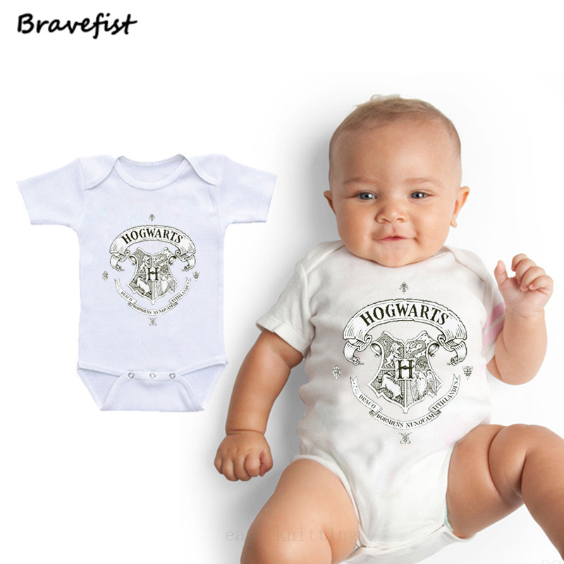 Newborn Bodysuits Round Neck Short Sleeve Kids Jumpsuits Cartoon Letters Print Round Neck Child Clothing For Boys Girls Outfits