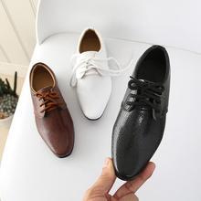Новые кожаные туфли для мальчиков, детские кожаные свадебные туфли оксфорды для девочек, школьные повседневные модельные кроссовки для детей
