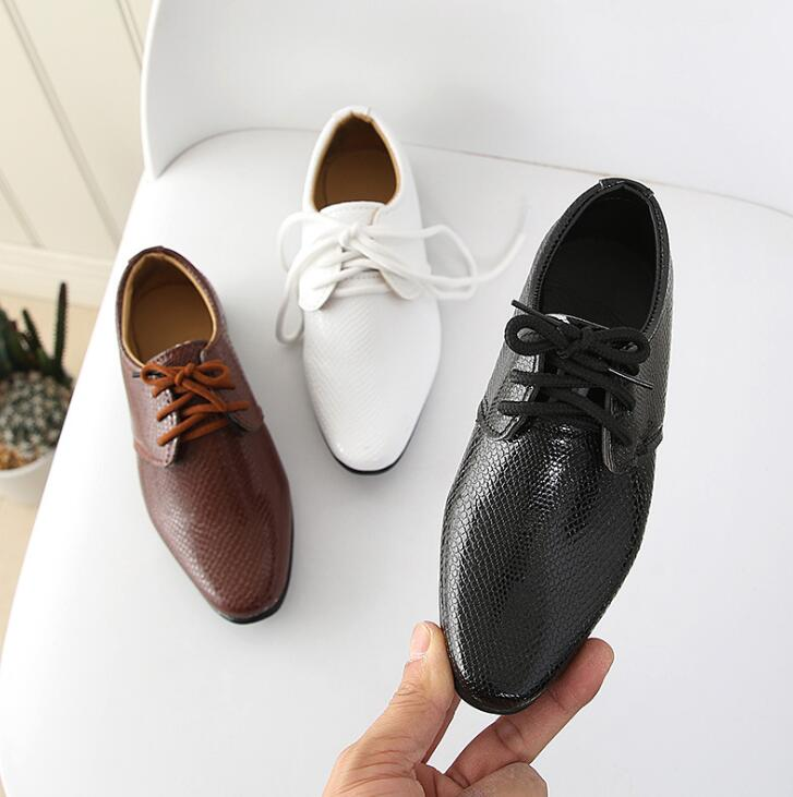 2019 New Boys Leather Shoes Children Leather Wedding Oxford Shoes Girls School Casual Dress Sneakers For Kids