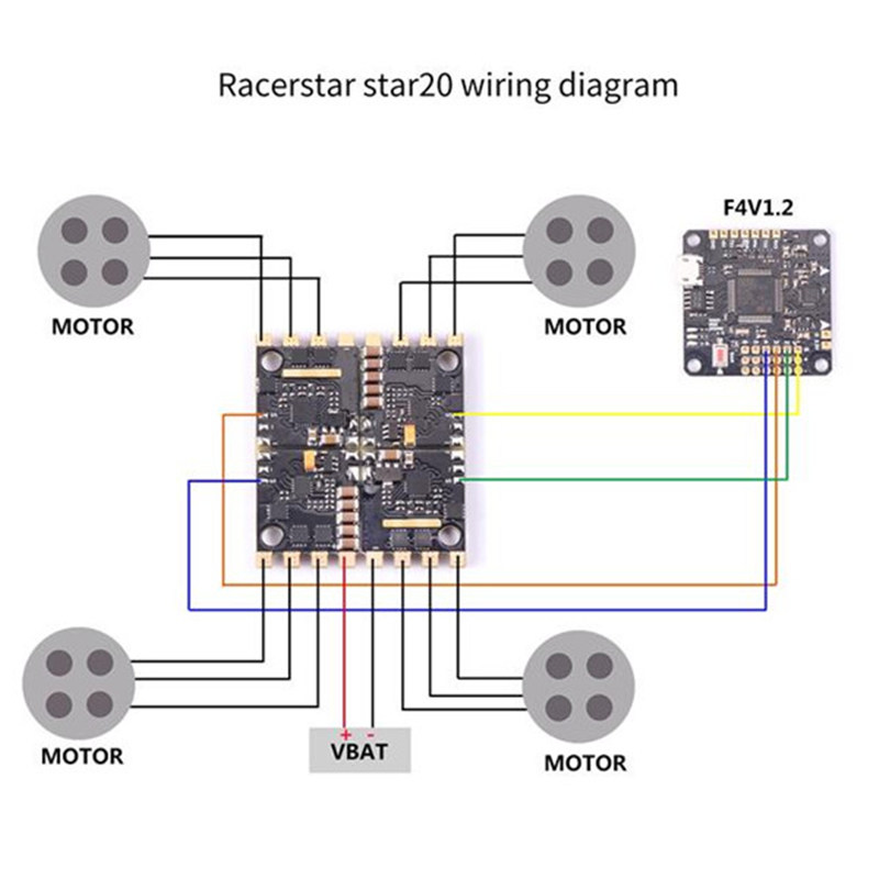Racerstar Star20 20A Blheli_S 2 4S Detachable 4 In 1 ESC D ... on
