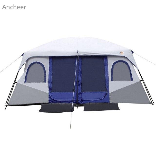 63bb7b9b6 NOVO Ao Ar Livre de dois Quartos Barraca de Camping Barraca 8-10 Pessoa  Acampamento