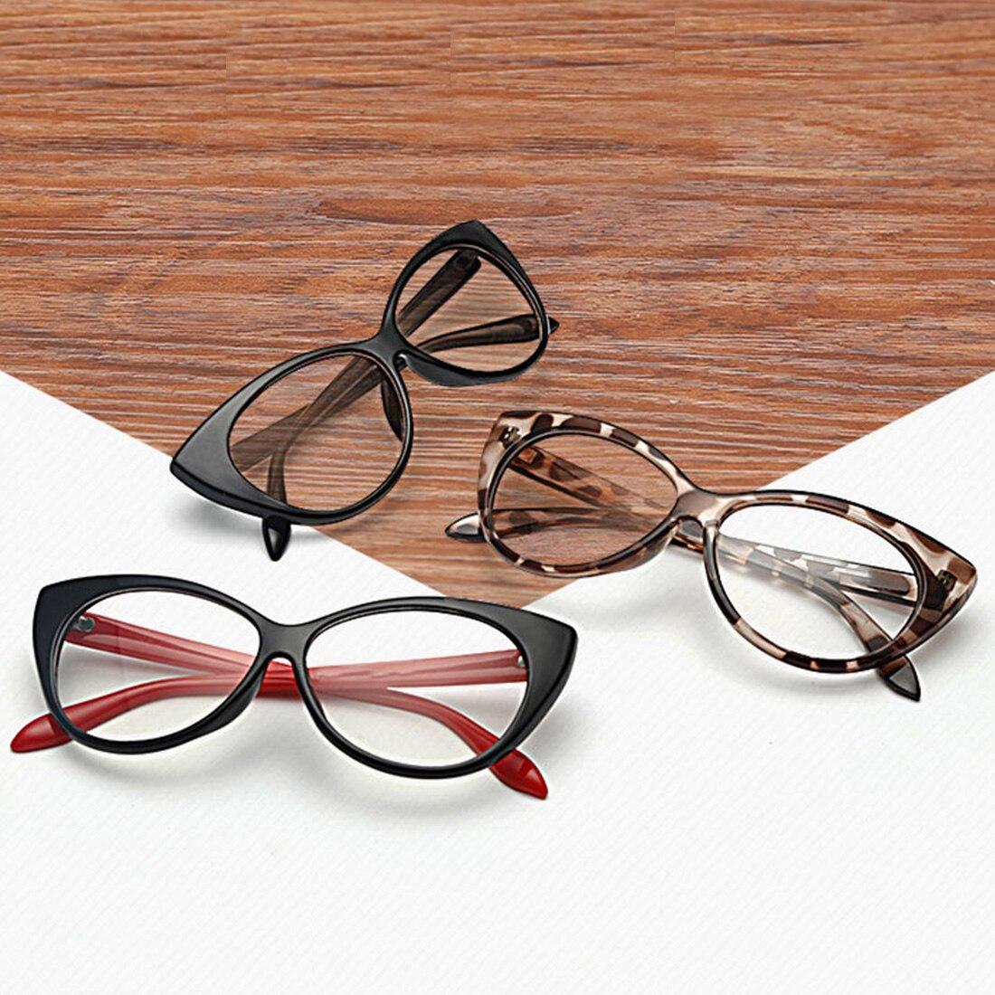 Top Sell Modern Elegant Cat Eyes Shape Glasses Frame For Ladies Acetate Optical Frames Retro Plastic Plain Glasses 5 Colors