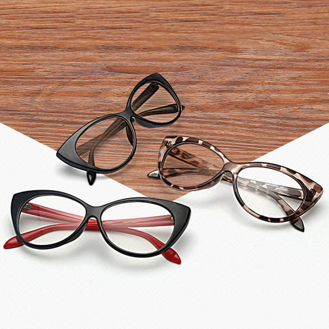 ec8cc9f283 Online Shop Top Sell Modern Elegant Cat Eyes Shape Glasses Frame For Ladies Acetate  Optical Frames Retro Plastic Plain Glasses 5 Colors