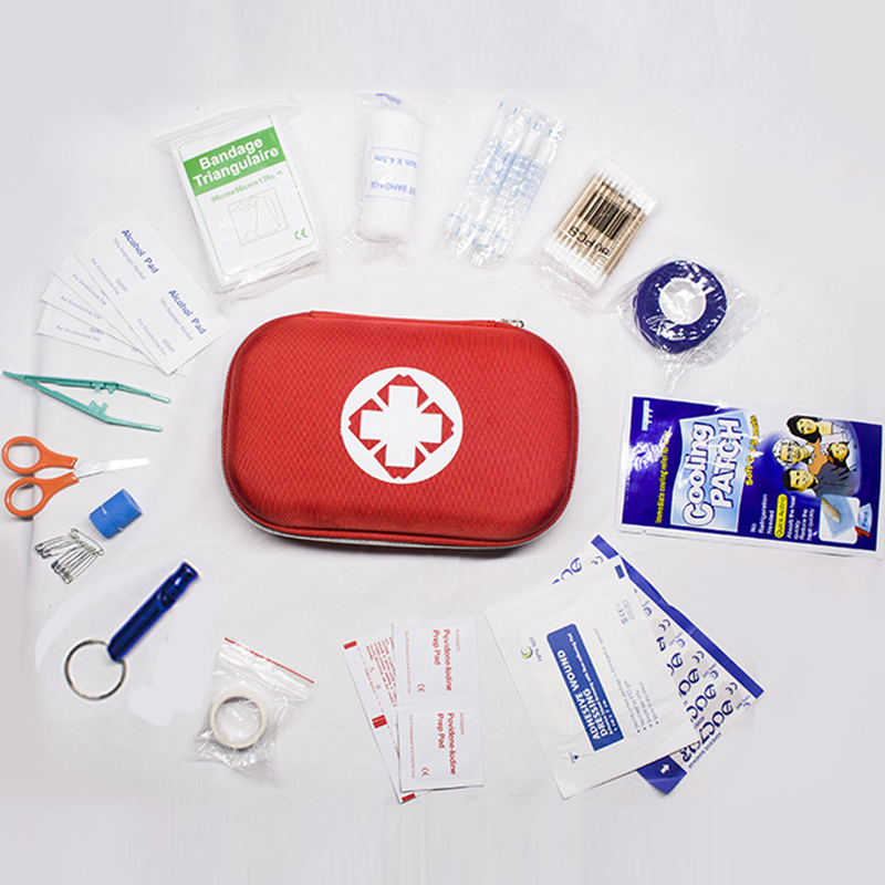 17 Items Portable First Aid Kit For Medicines Outdoor Camping Medical Bag Emergency Kits Travel Set Survival Bags First Aid Box