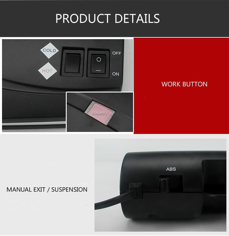 Cold/Hot Plastic Sealing Laminator Machine With US Plug And EU Plug