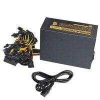8 GPU PSU Mining Power Supply 1800W Pc Bitcoin Miner R9 380 390 RX 470 480