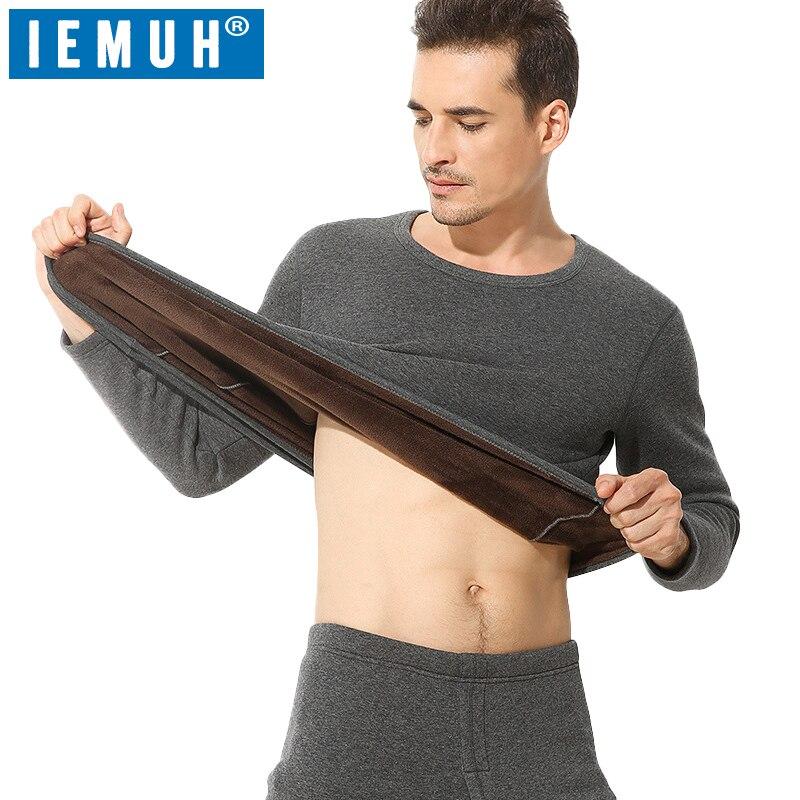 IEMUH ropa interior térmica gruesa de invierno para hombres marca Anti-microbial estiramiento hombres ropa interior térmica hombre cálido largo Johns térmica