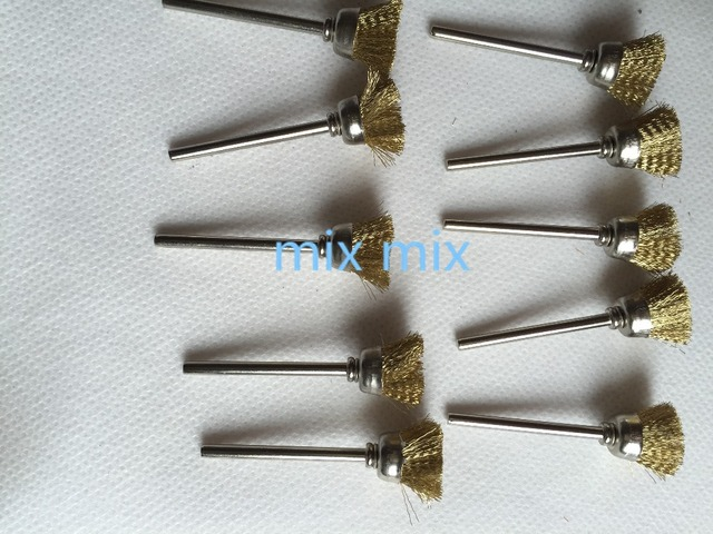 Wire Brush For Die Grinder   Fixmee 10pc Brass Wire Cup Brush For Hand Drill Die Grinder Rotary A